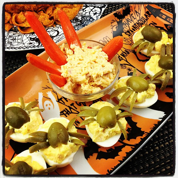 Palmetto Cheese Halloween Serving idea