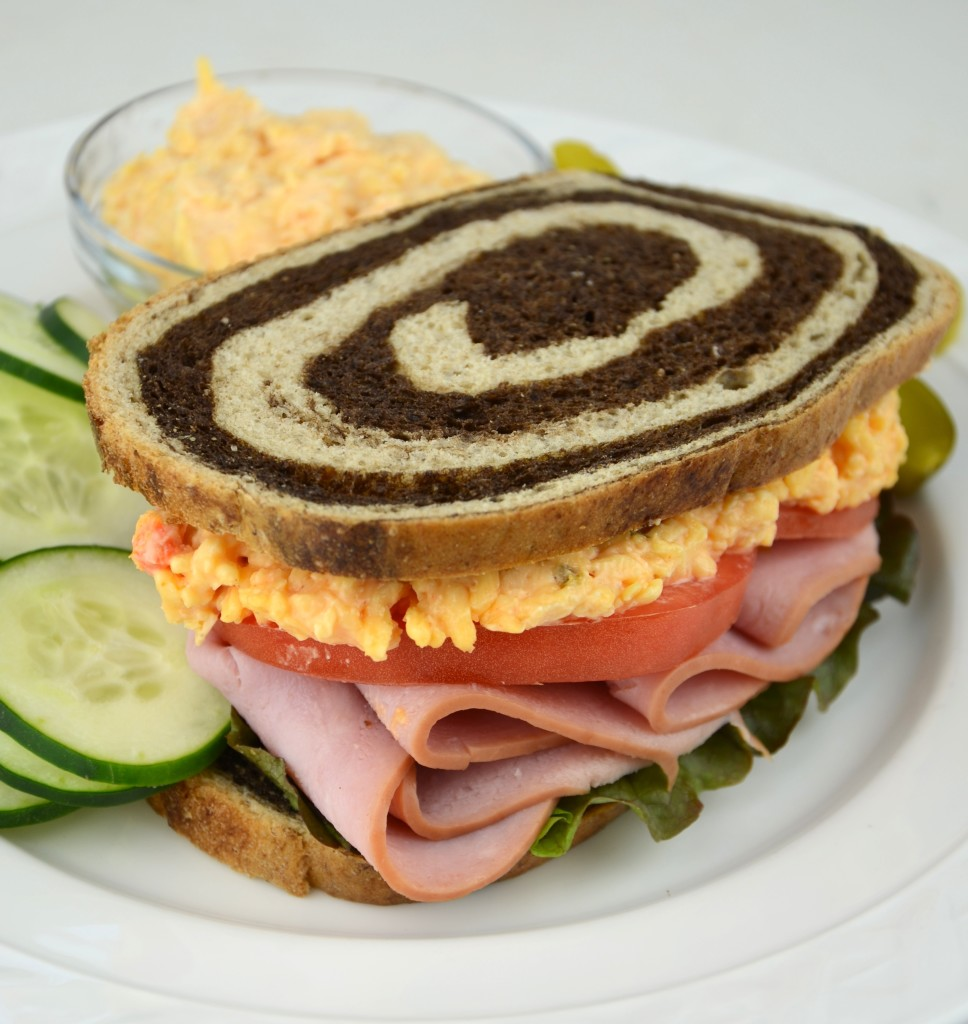 palmetto cheese and ham sandwich