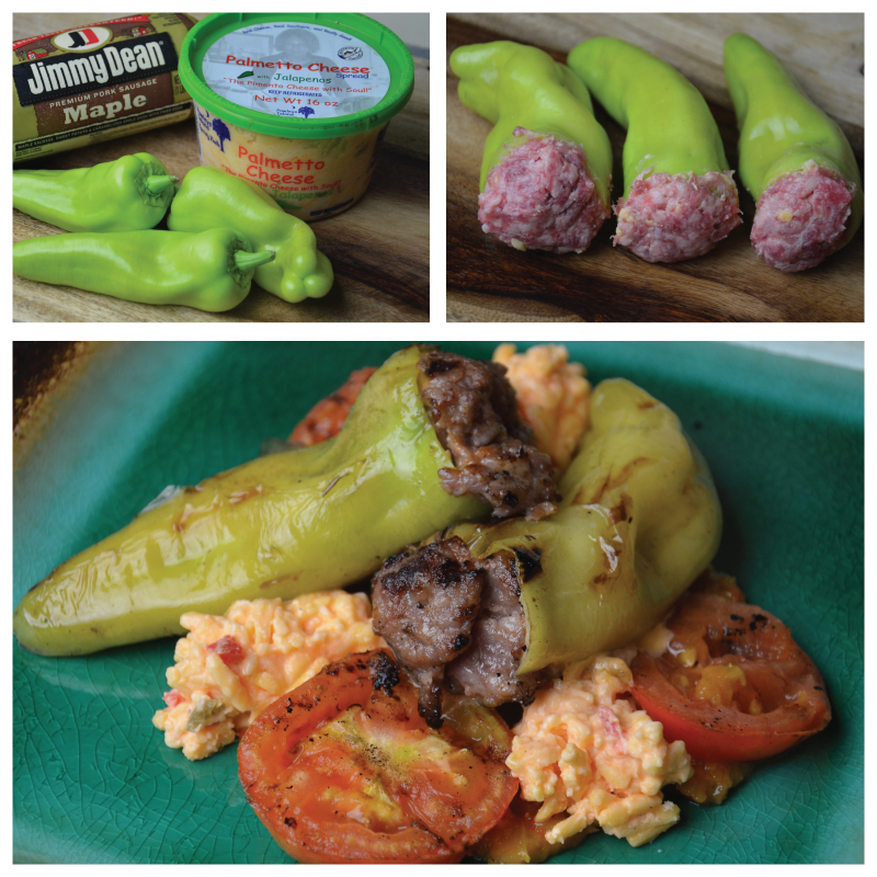 Palmetto cheese stuffed pepper