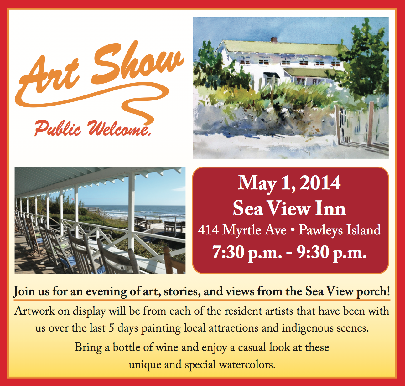Sea View Inn Art Show May 1