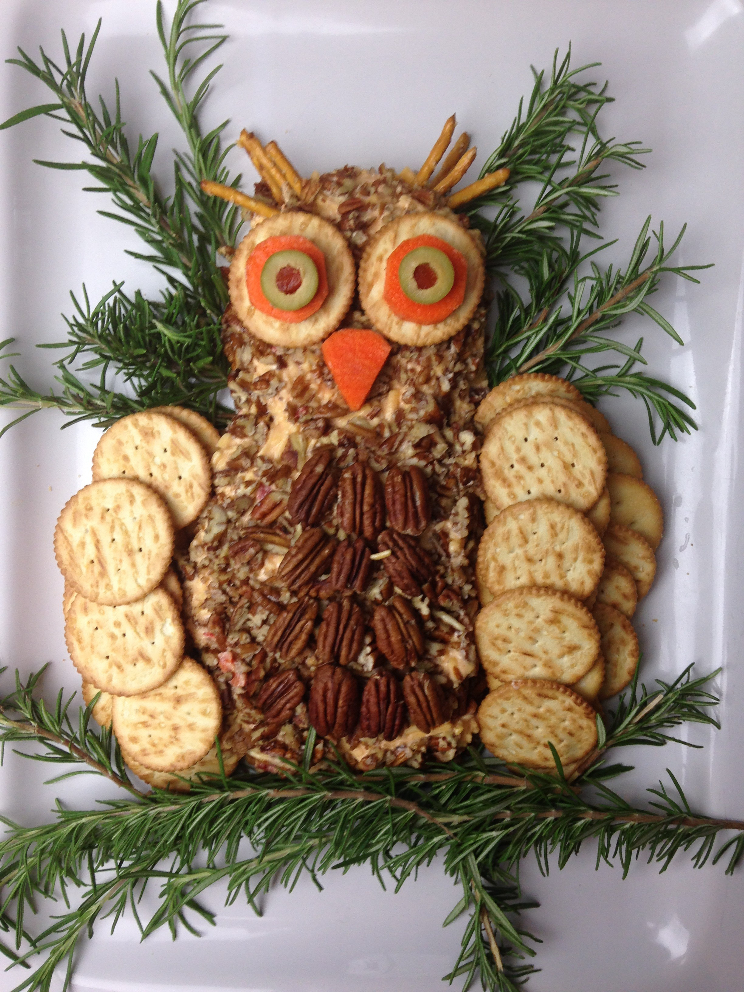 palmetto cheese pimento cheese ball owl
