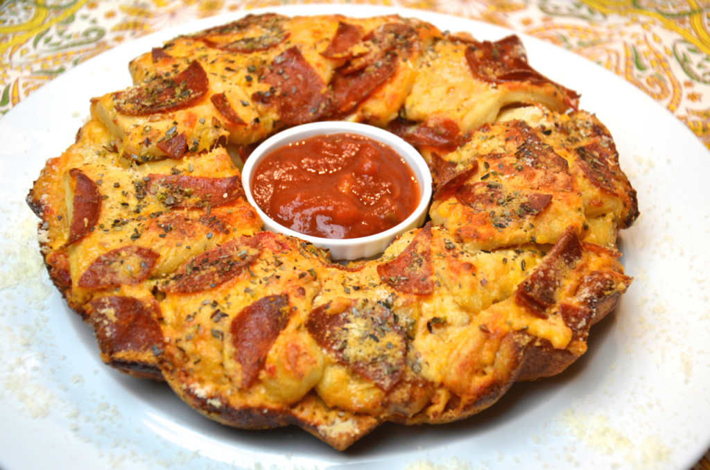 Palmetto Cheese recipe Pull apart pizza bread