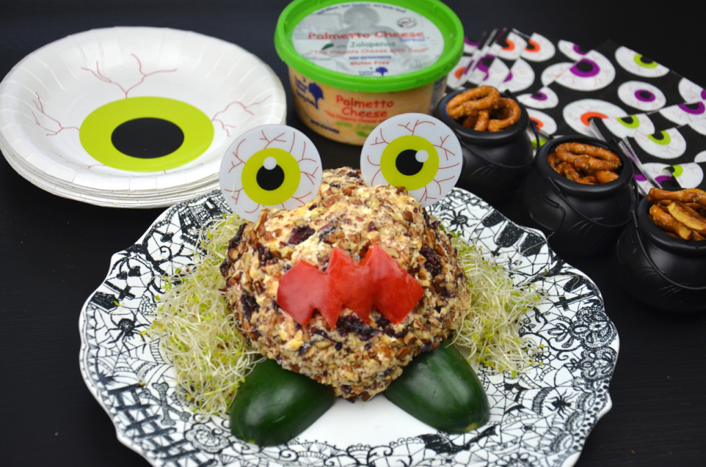 We served our Monster Cheese Ball with plates and napkins purchased at ...