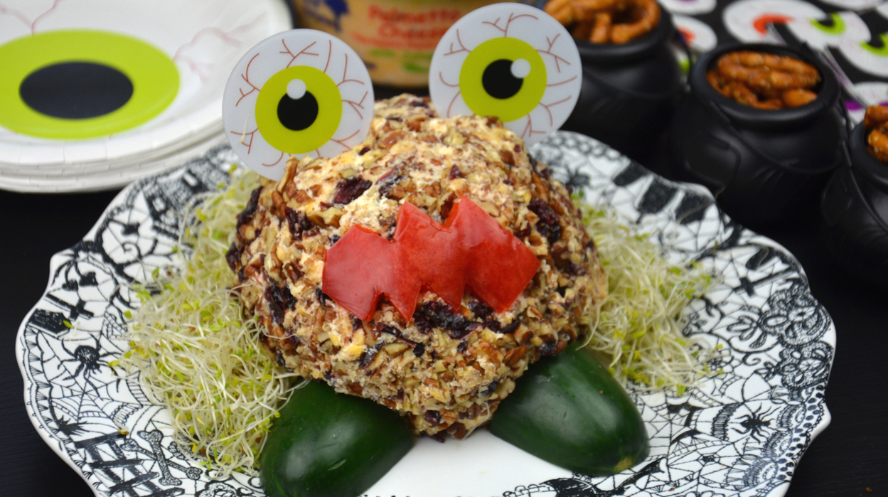 Monster Palmetto Cheese Ball halloween recipe