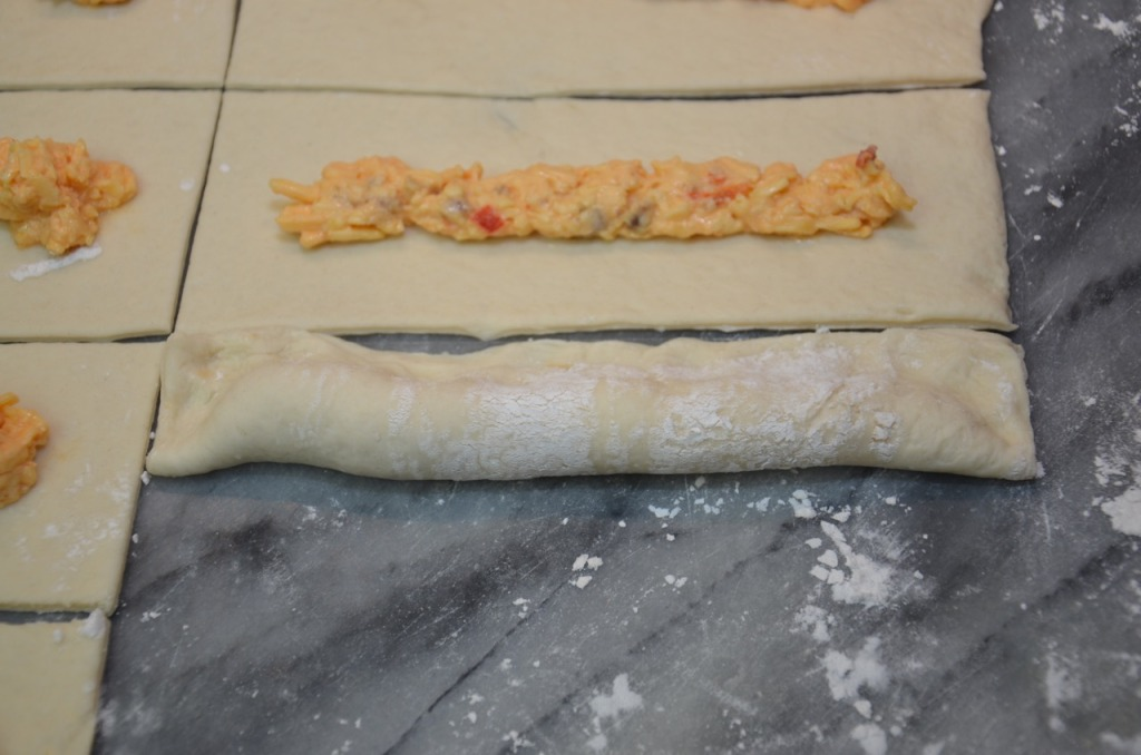 Palmetto Cheese stuffed breadsticks