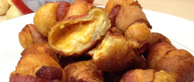 Bacon wrapped Palmetto Cheese Balls recipe