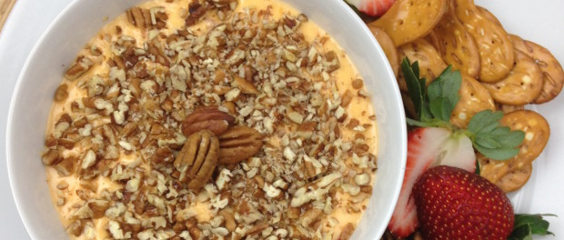 baked palmetto cheese with pecans