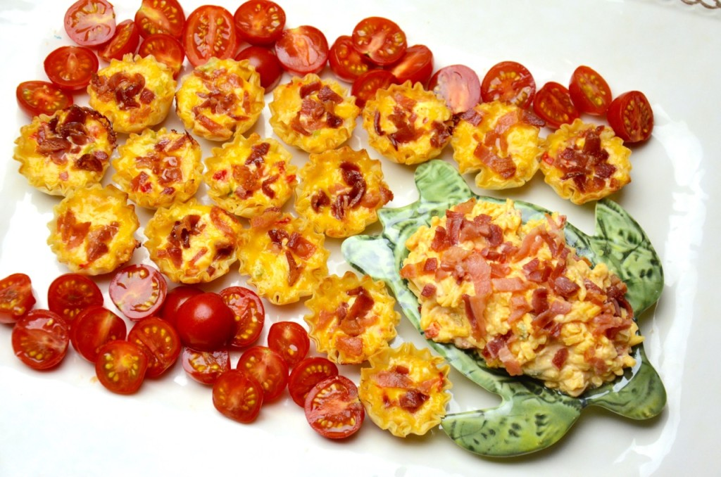 Bacon pimento cheese phyllo cups