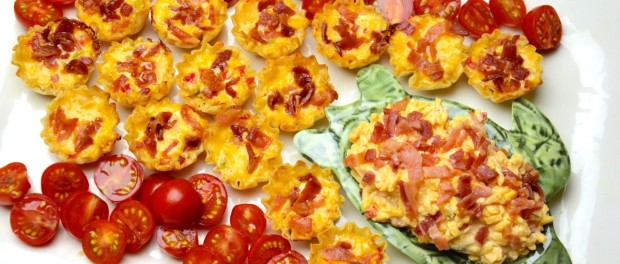 Bacon Palmetto Cheese Phyllo Cups