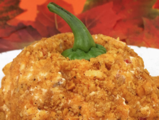 Palmetto Cheese Pumpkin pimento cheese ball