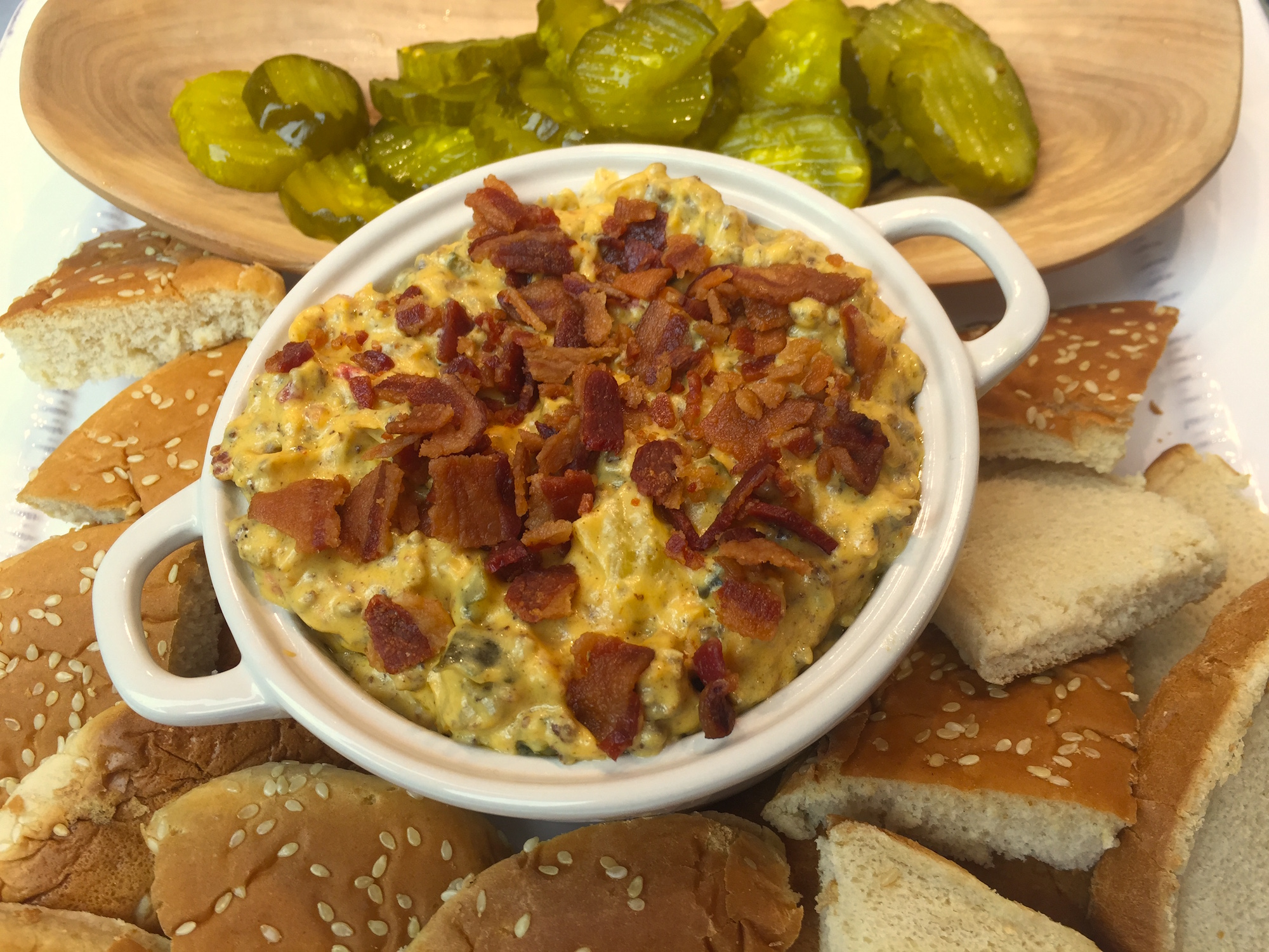 Palmetto Cheese Bacon Cheeseburger Dip